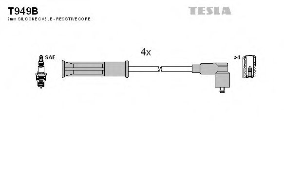 T949B Ignition Cable Kit