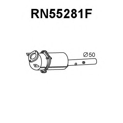 RN55281F Soot/Particulate Filter, exhaust system