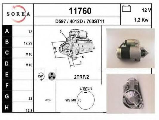 11760 Ignition Cable