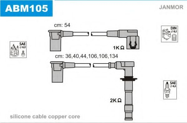 ABM105 Ignition Cable Kit