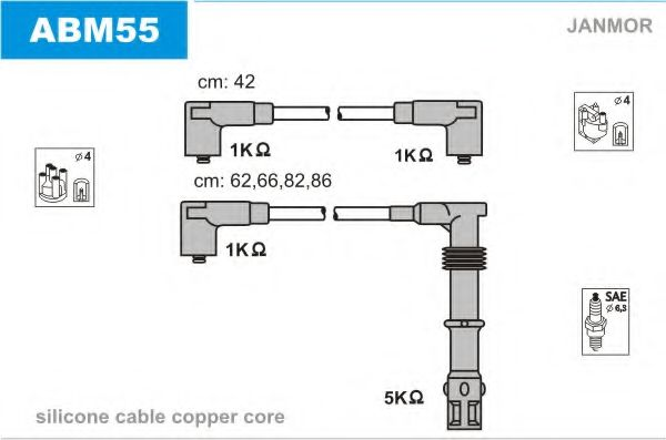 ABM55 Ignition Cable Kit