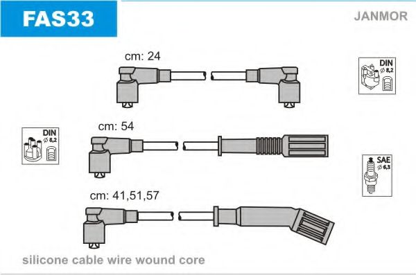 FAS33 Ignition Cable Kit