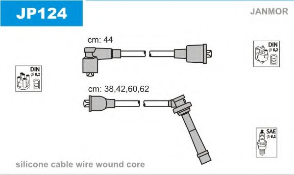 JP124 Ignition Cable Kit