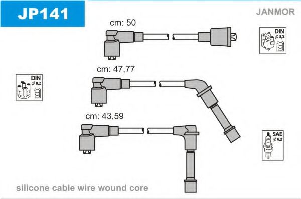 JP141 Ignition Cable Kit