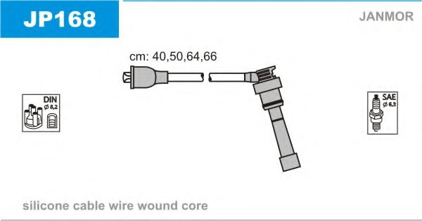 JP168 Ignition Cable Kit