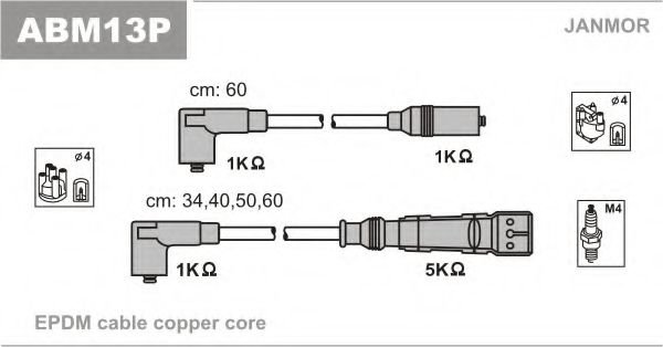 ABM13P Ignition Cable Kit