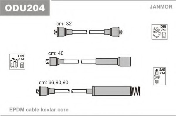 ODU204 Ignition Cable Kit