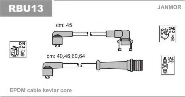RBU13 Ignition Cable Kit