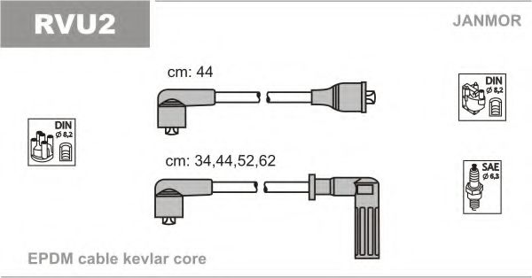 RVU2 Ignition Cable Kit