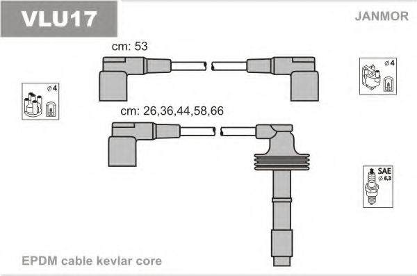 VLU17 Ignition Cable Kit