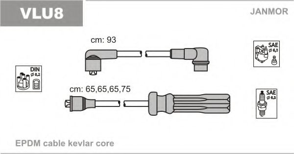 VLU8 Ignition Cable Kit