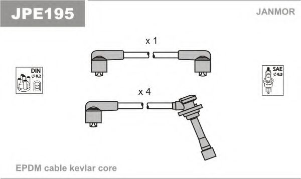 JPE195 Ignition Cable Kit