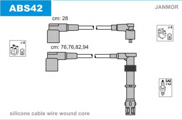 ABS42 Ignition Cable Kit
