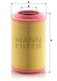 C 25 860/8 Air Supply Air Filter