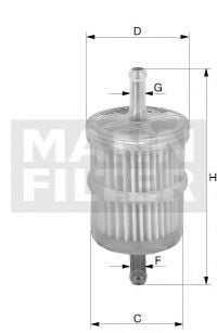 WK 716/6 Fuel Supply System Fuel filter