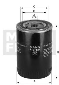 W 923/1 Lubrication Oil Filter
