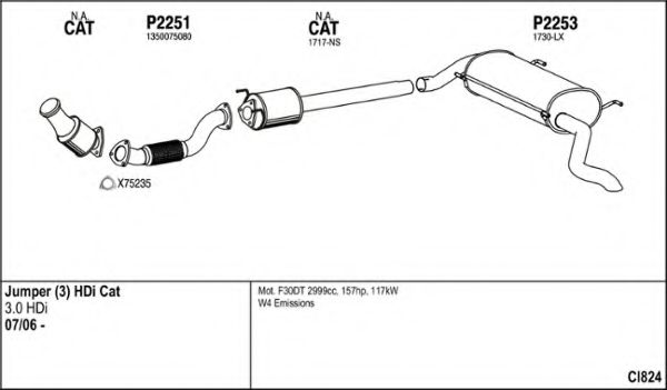 CI824 Exhaust System