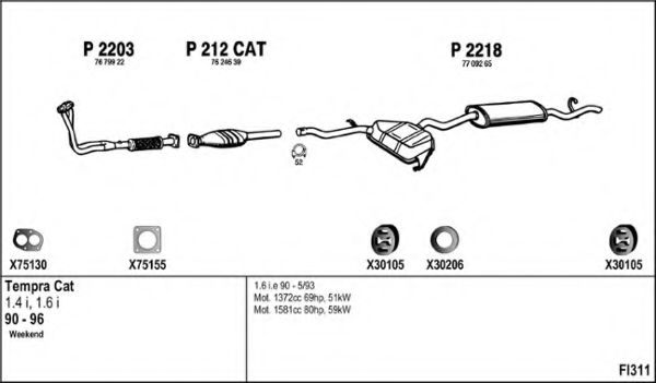 FI311 Exhaust System