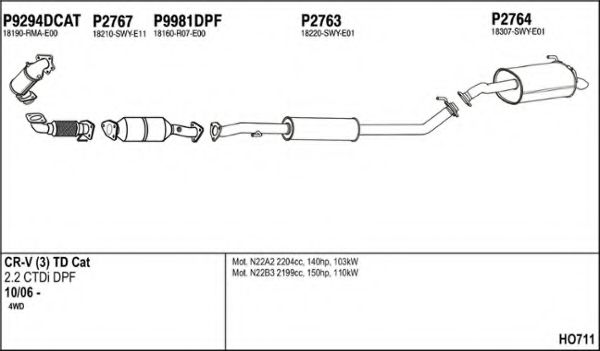 HO711 Exhaust System