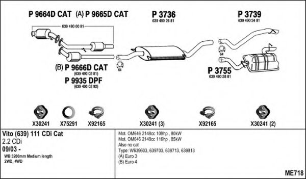 ME718 Exhaust System
