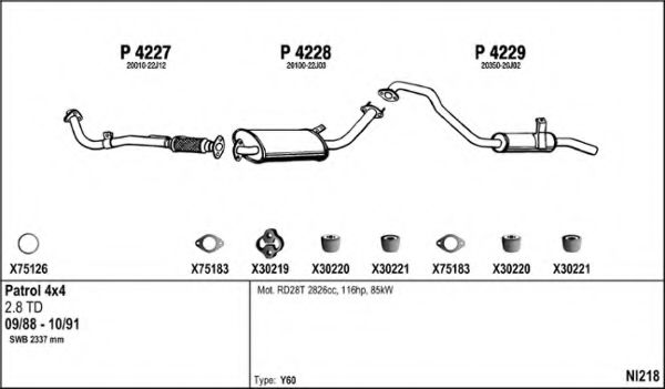 NI218 Exhaust System