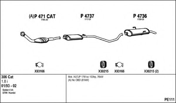 PE111 Exhaust System