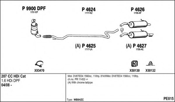 PE815 Exhaust System