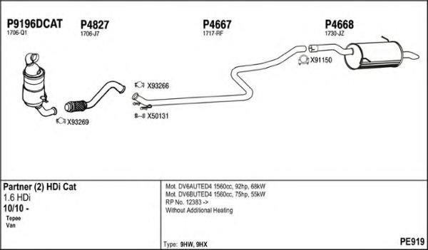 PE919 Exhaust System