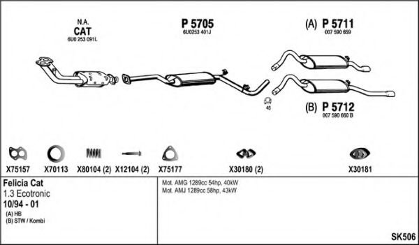 SK506 Exhaust System