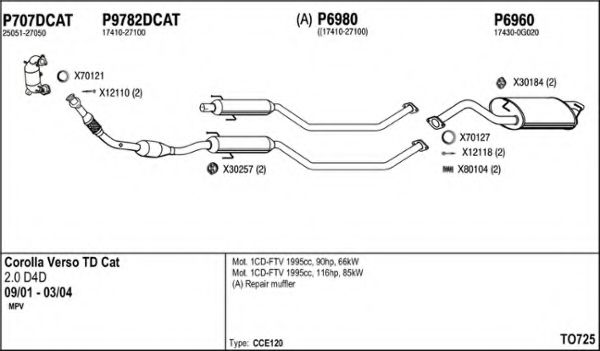 TO725 Exhaust System