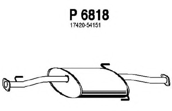 P6818 Middle Silencer