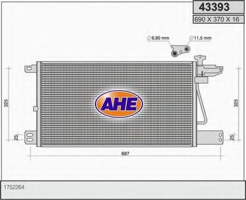 43393 Cable, parking brake