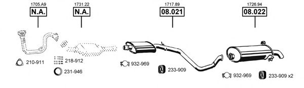PE081900 Exhaust System