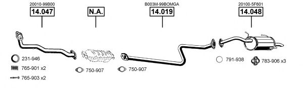 NI140880 Exhaust System