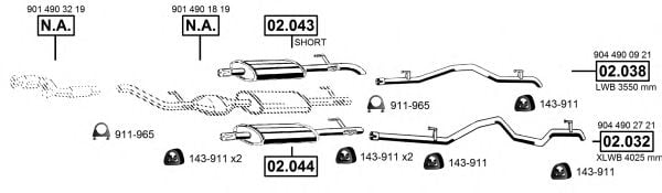 ME012472 Exhaust System