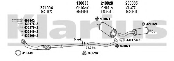 180361E Exhaust System