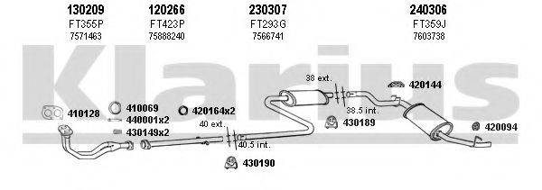 330186E Exhaust System