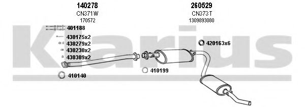 330391E Exhaust System