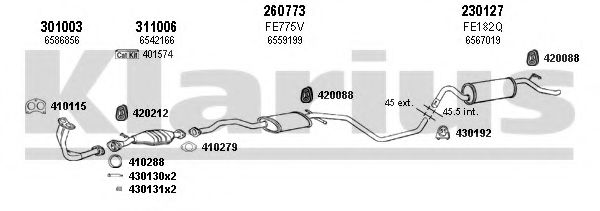 361005E Exhaust System