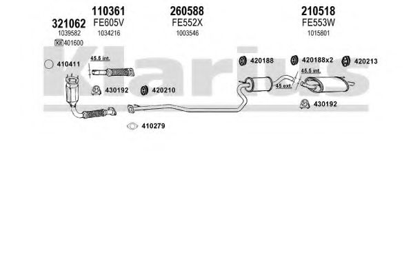 361127E Exhaust System