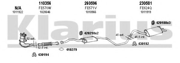 361241E Exhaust System