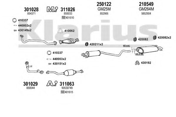 390898E Exhaust System