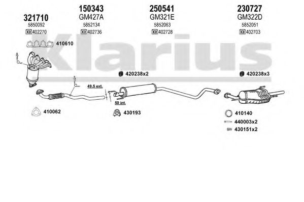 391182E Exhaust System