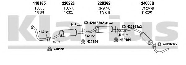 630281E Exhaust System