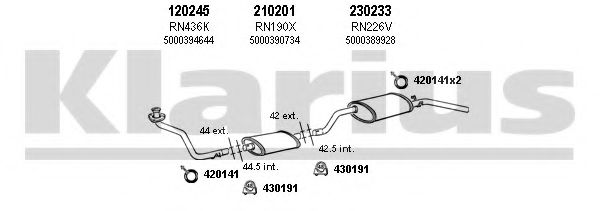 720235E Exhaust System
