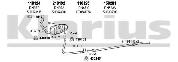 720242E Exhaust System