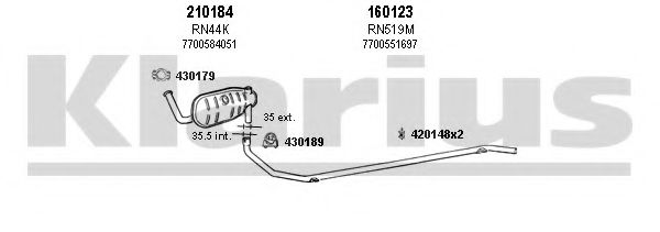 720248E Exhaust System