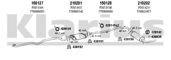 720496E Exhaust System