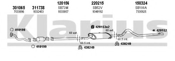 750036E Exhaust System