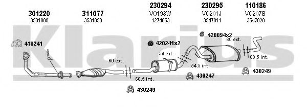 960090E Exhaust System